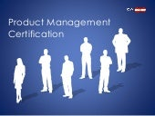 Product Management certification and training