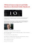 UK PM David Cameron Speech and Public Reaction on Woolwich Soldier Murdered (May 2013)