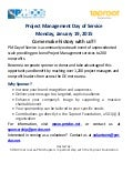 Project Management Day of Service 2015 (PMDoS) Call for Sponsors
