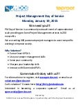 Project Management Day of Service (PMDoS) 2015 Call for Volunteers