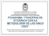 P metodología cinco eses general