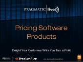 Pricing Software Products: Pragmatic Marketing Webinar