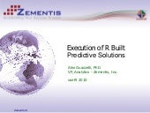 PMML Execution of R Built Predictiv...