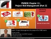 Pmp   chap 11 - project risk management- Part 2