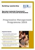 Progressive Management Program by ECR Europe Brochure 2010