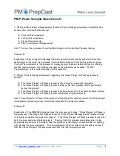 PMP Exam Sample Questions 8