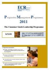 Progressive Management Programme 2011