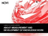 About measurement and development of knowledge work