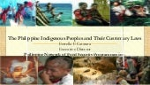 The Philippine Indigenous People an...