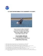 2012 Marine Mammal Stock Assessment...