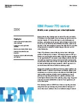 IBM Power 770 server
