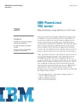 IBM PowerLinux 7R2 server