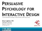 Persuasive Psychology for Interactive Design