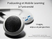 Podcasting et Mobile Learning à l'u...