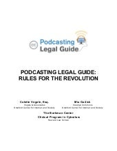 Podcasting Legal Guide[1]