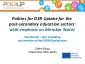 Policies for OER uptake - POERUP pr...