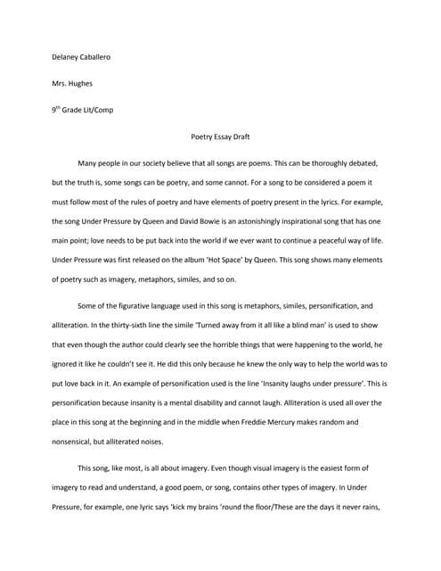poem explication essay examples