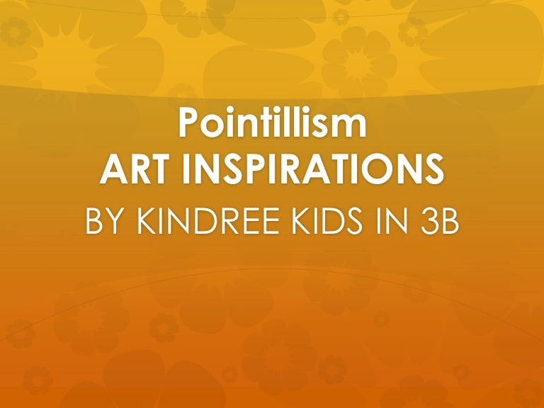 Pointillism by Kindree Kids in 3B