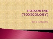 Poisoning    (toxicology)