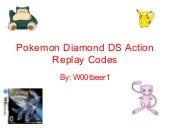 Pokemon Diamond Ds Action Replay Co...