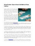 Poker Practice: Tips on How to Get Better at Texas Hold'em