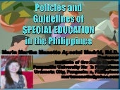 Policies and Guidelines of Special ...
