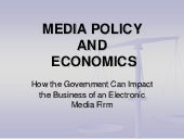 Media Economics & Communication Pol...