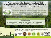 Policy framework for complementary integrated Management of Timber and Non-timber Forest Products to Enhance Local Livelihoods in Indonesia