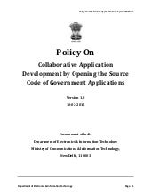 Policy On Collaborative Application Development by Opening the Source Code of Government Applications
