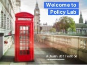 Introduction to the UK Policy Lab - Autumn edition
