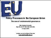 Policy Processes In The European Un...
