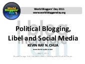 Political Blogging, Libel and Socia...