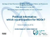 Political informatics: which e-part...