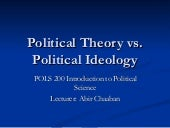 Political theory vs. political ideo...
