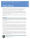 Global Medical Cures™ | POLLEN ALLERGY Fact Sheet