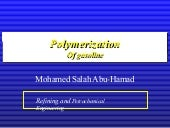 Polymerization of gasoline