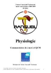 Poly physiologie 2008-2009