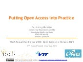 Putting Open Access into Practice