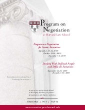 Harvard Negotiation Training