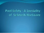 Pool Safety - A Speciality of Safet...