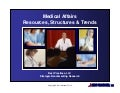Medical Affairs Resources, Structures, and Trends Report Summary