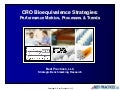 CRO Bioequivalence Strategies Performance Metrics, Processes & Trends Report Summary