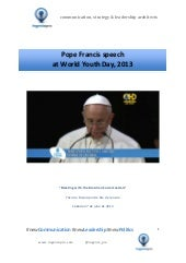 Pope Francis speech at the World Yo...