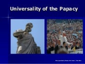Pope Universality Papacy W Photos