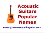 Acoustic Guitars Popular Names