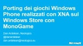 Porting dei giochi windows phone re...