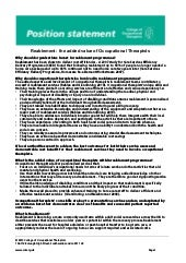 Position statement reablement