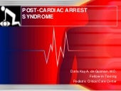 Post cardiac arrest syndrome