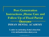 Post cementation /certified fixed orthodontic courses by Indian dental academy
