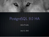 Postgresql 9.0 HA at RMLL 2012